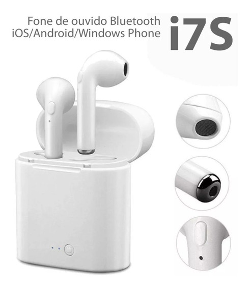 Fone De Ouvido Sem Fio Airpod Bluetooth I7s iPhone Android