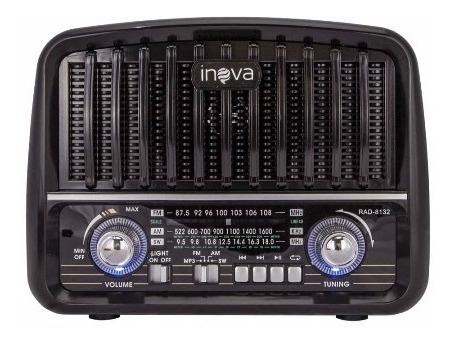 Caixa De Som Retrô Usb P2 Rádio Vintage Bluetooth Fm Am