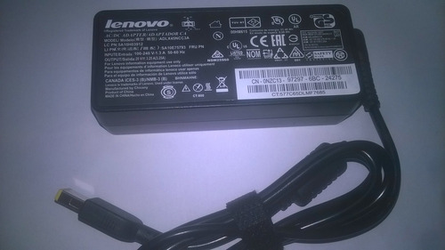 Cargador Para Laptop Lenovo 20v 3.25a Punta Usb Tienda Piura