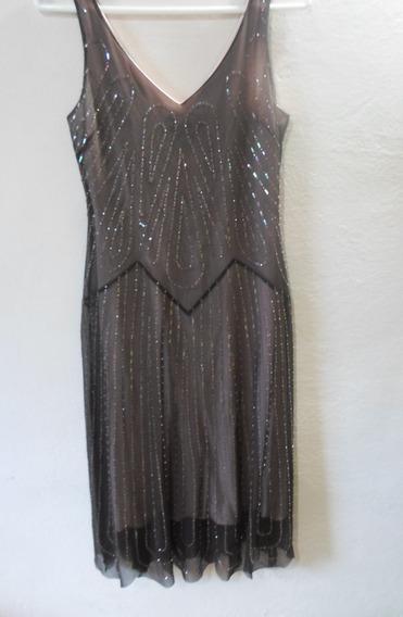 Vestido Marron De Dama Talla Xs Importado 3v
