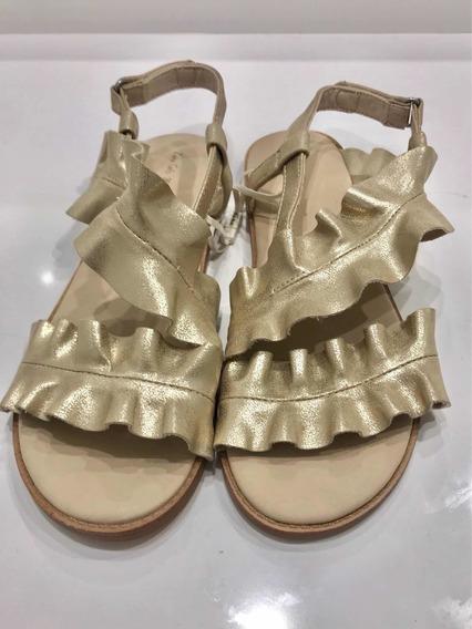 Sandalias Niñas Doradas Zara Girls Verano 2020