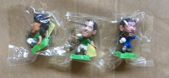 3 Cabezones Dif Seleccion Futbol Jugadores Figuras Coca Cola