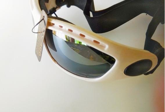 Lentes Goggles Senderismo Moto Bici Deportes Extremos Blanco