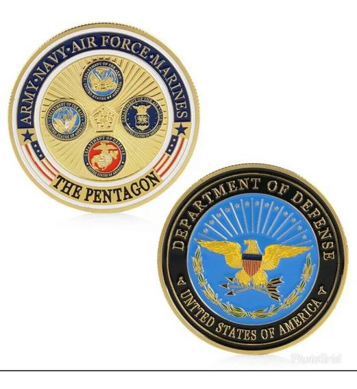Moeda Militar Comemorativa The Pentagon