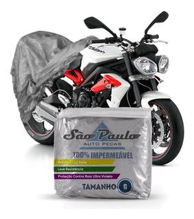 Capa De Moto Triumph Street Triple 675 Impermeável Anti-uv