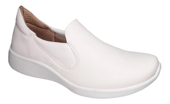Tenis Branco Feminino Piccadilly Slip On Esporão Conforto
