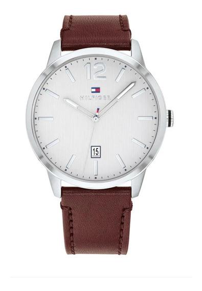 Reloj Tommy Hilfiger Cuero 1791495 Ajustable Cafe