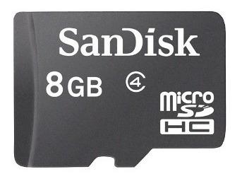 Cartão De Memória Micro Sd Sandisk 8gb + Leitor 15 Em 1