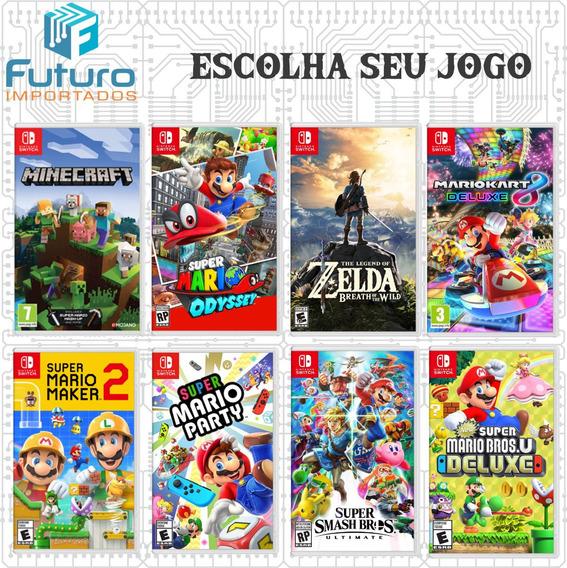 Jogo Nintendo Switch Física Minecraft Mario Fifa Zelda Smash