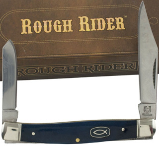 Canivete Rough Rider Rr1456 Blue Iscus K 2 Láminas Original