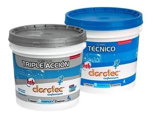 Imagen 1 de 6 de Kit Granulado Lento + Pastillas Triple Accion 4k Clorotec Mm