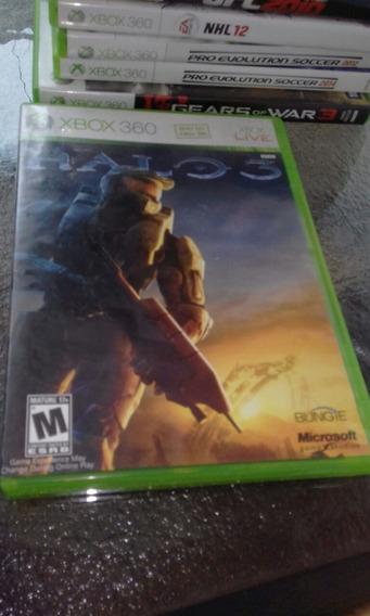 Halo 3 Mídia Física Original Com Manual Xbox 360