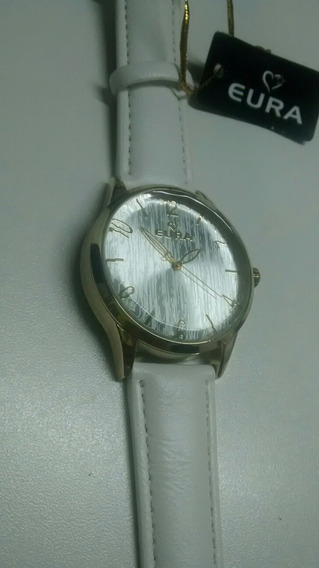 Relógio Feminino Euro Branco Com Dourado Importado