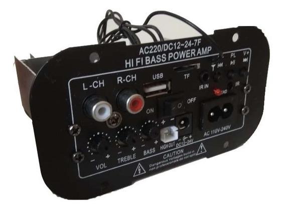 Placa Som Amplificada Decodificador Mp3 Bluetooth Usb Ativa