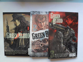 Lote Com 3 Mangás Green Blood Vol. 1, 2 E 3 Jbc