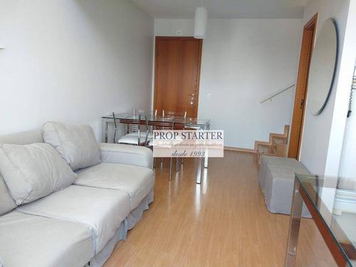 Imagem 1 de 20 de Apartamento Duplex Com 1 Dormitório Para Alugar, 55 M² Por R$ 2.900/mês - Pinheiros - Prop Starter Adm. Imóveis - Ad0023