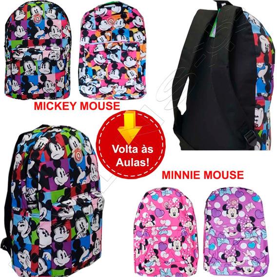 Mochila Mickey E Minnie Mouse Infantil Escoclar 01819xfp