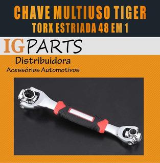 Chave Torx Estriada Soquete 360 Multifuncional Tiger 48 Em 1