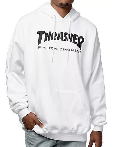 Blusa De Moletom Thrasher Branco