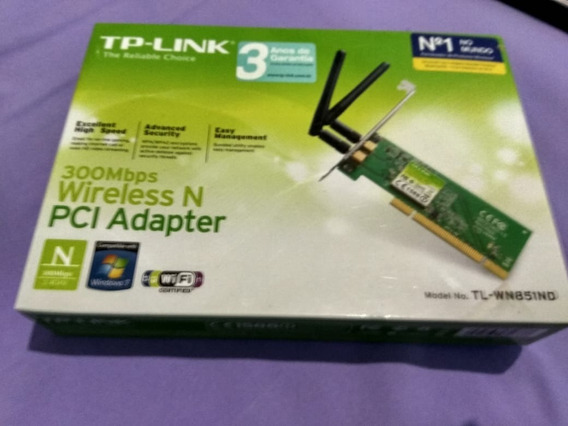 Placa De Rede Pci Wireless 300mbps Tp-link Tl-wn851nd