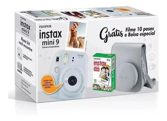 Kit Câmera Instantânea Fujifilm Instax Mini9 + Filme + Bolsa