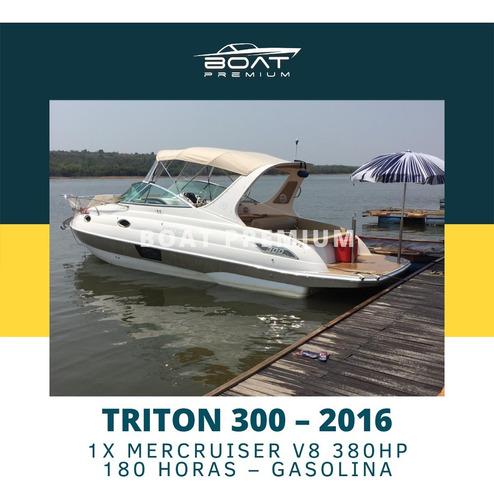 Imagem 1 de 11 de Triton 300, 2016, 1x Mercruiser V8 380hp - Ventura - Focker