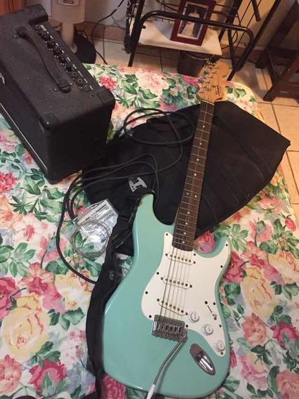 Guitarra Fender Con Amplificador 20w