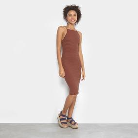 0ad5ac89f Cantão - Vestido Listrado Preto Femininas Vestidos - Calçados ...