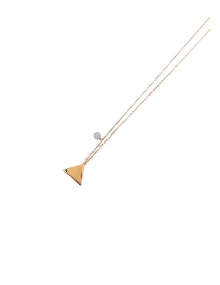Collar Hombre Triangulo Acero Plata Unitalla Cr03 Sarosa