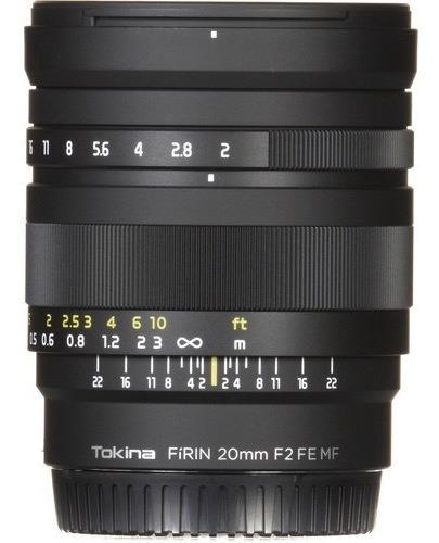 Lente Tokina Firin 20mm F/2 Fe Mf Para Sony E Garantia Loja