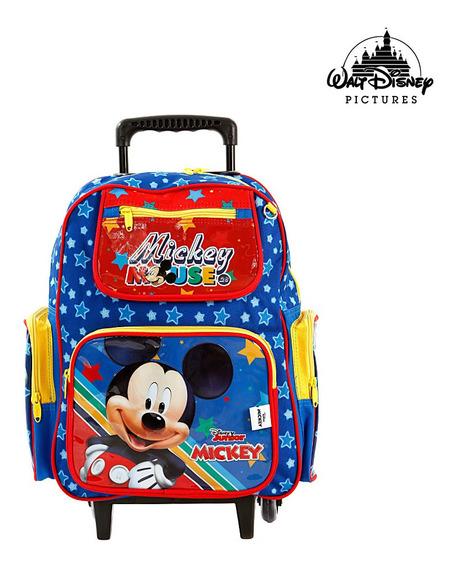 Mochila Escolar Infantil Mickey Mouse Disney De Rodinhas