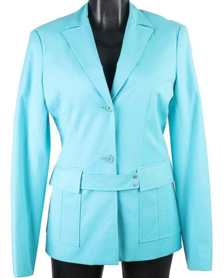 Chaqueta Tipo Coat Bcbg Maxazria Color Azul Turquesa