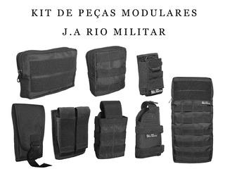 Kit De Acessórios Colete Modular Paintball Airsoft Molle