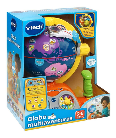 Globo Terráqueo Avion Multiaventuras Vtech Luces Y Sonidos