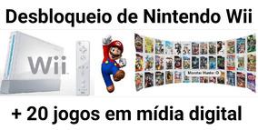 Desbloqueio Nintendo Wii + 20 Jogos Midia Digital