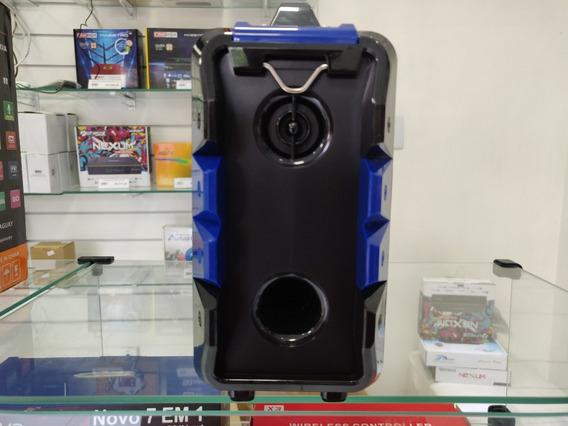 Caixa De Som Mega Star Hy- Sd / Usb / Bluetooth / Karaokê
