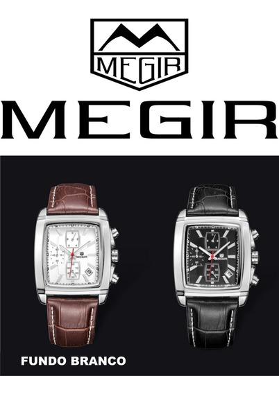 Relógio Megir - Clássico - Casamento - Negócios - Esporte F.