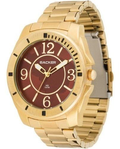 Relógio Backer Masculino 3337145f Mr Original Barato