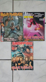 Lote 3 Revistas Iron Maiden Poster Grande Heavy Metal Rock