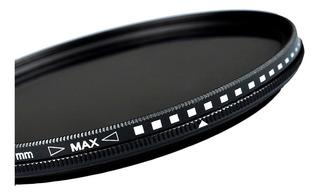 Filtro Nd Variable 55mm Para Canon Nikon Densidad Neutra