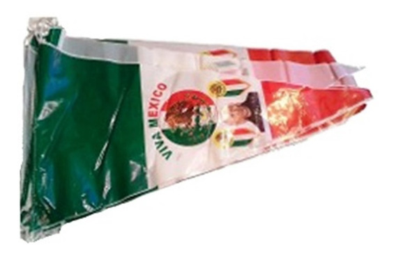 Decoracion Banderin De Plastico Impreso Motivos Patrios 8 Mt
