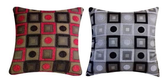 Paquete: 6 Cojines Para Salas Modernas - 40x40 - Decorativos