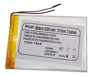 Bateria Tablet 3200 Mah 10 X 7cm 2 Cables La Mas Duradera!