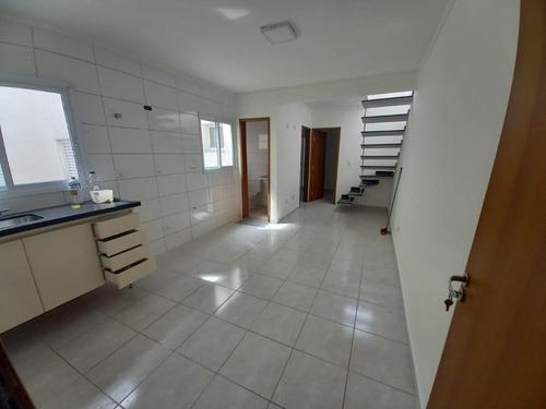Cobertura Com 2 Dormitórios Para Alugar, 70 M² Por R$ 2.000,00/mês - Vila Scarpelli - Santo André/sp - Co1330