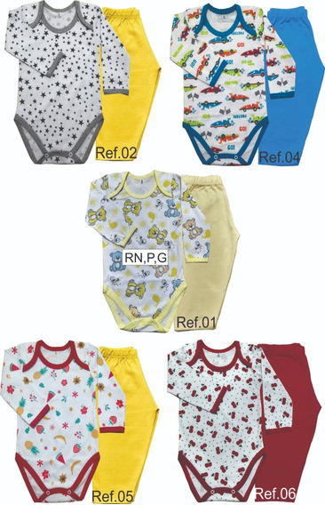 Conjuntos Body Manga Longa+calça Kit 8 Conjuntos - Rn A Gg