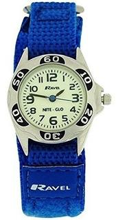 Reloj Ravel Boys Niteglo De Cuarzo Luminous Dial Royal Blue