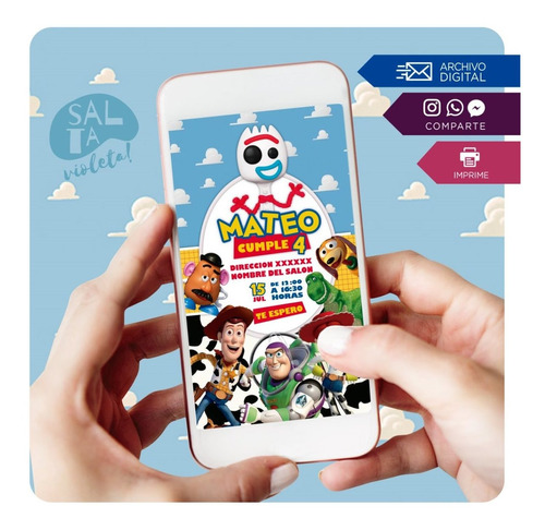 Invitación Digital Toy Story - Salta Violeta