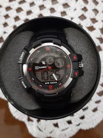 Relógio X Games Masculino Preto Prata Vermelho Ana Digital