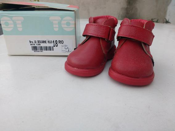 Zapatitos Toot De Cuero Taller 18 Rojos Como Nuevos