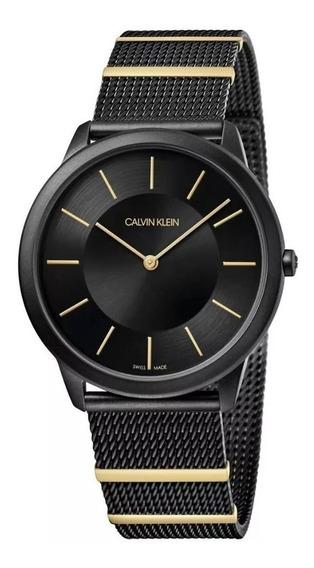Reloj Calvin Klein K3m514z1 Unisex Negro Original Y Nuevo